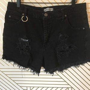 Lee distressed denim shorts